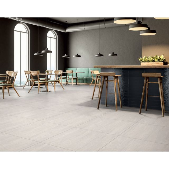 Commerciale Effetto Pietra 60x60 White