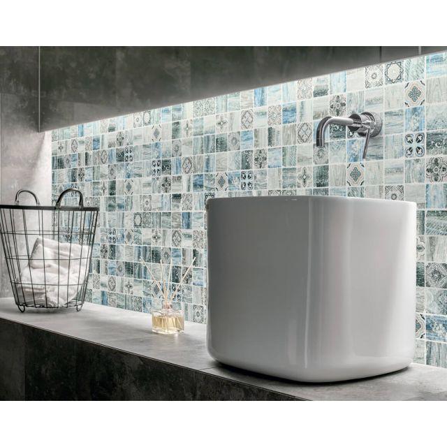 Bagno Effetto Marmo 30x30 Light Blue