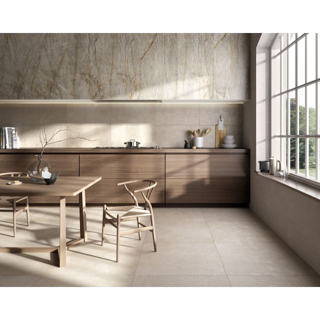 Living Effetto Cemento 100x100 Taupe