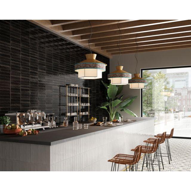 Cucina Effetto Mattone 6x24 Black