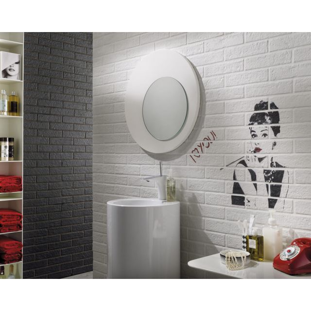 Bathroom Brick Effect 6x25 White