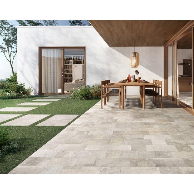 Outdoor Stone Effect 20.3x40.6 Grey
