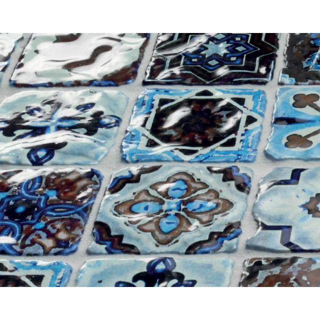 Dettaglio Effetto Vetro 30x30 Multicolor