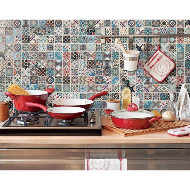 Cucina Effetto Marmo 30x30 Multocolor