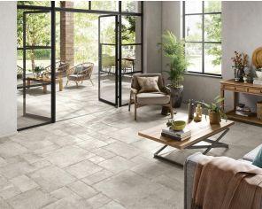 Reclaimed stone effect tiles