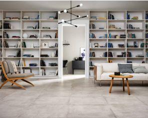 Terracotta Concrete Effect Livingroom Cotton 75x75