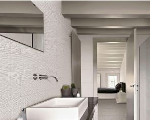 Bagno Effetto Resina 40x120 Bianco Wall 3D