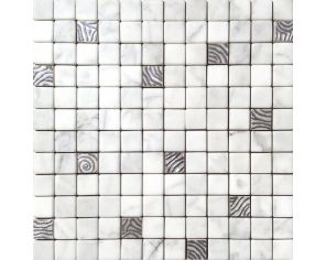 Preziosi Platino/ Carrara Mosaico 30x30 f