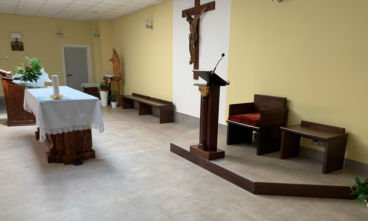 The renovated chapel