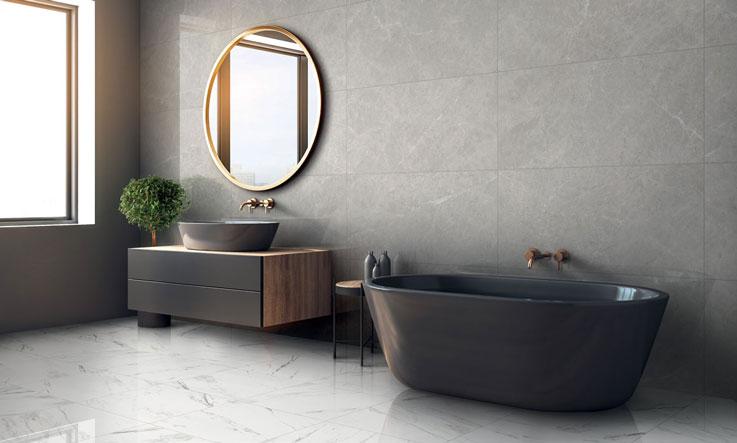 bagno classico effetto marmo Carrara