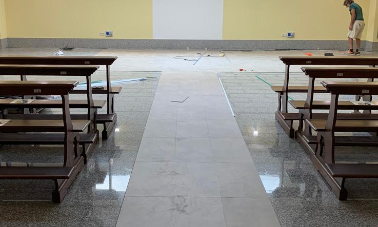 LVT floor installation
