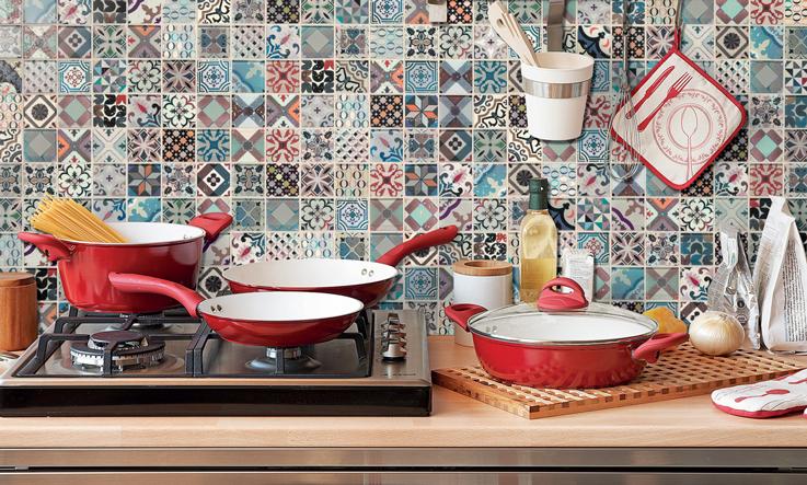 mosaico cucina vintage